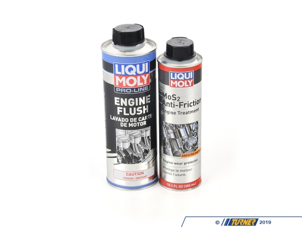 T#578655 - mos2flushKT - Oil Change Additive Package - Proline Engine Flush and MoS2 Anti Friction Oil Treatment - Liqui-Moly - BMW MINI