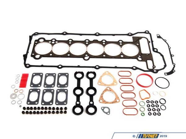 T#1723 - 11129064467 - Head Gasket Set - E34 525i 93-95, E36 325i 93-95 M50 - This head gasket set for the M50tu VAN0S engine will save you both time and money. This set includes all of the commonly replaced gaskets, seals, and o-rings. This allows you to complete your head rebuild without ordering and waiting for parts as needed. These are all parts that are replaced on the cylinder head ensuring you have a leak-free top-end when the job is finished.This set of gaskets is a both a time and money saver. It includes all of the commonly replaced gaskets, seals, and o-rings when performing this overhaul. Having these on hand instead of chasing them down at the last minute will save you time, money, and frustration. With this area of the engine apart you're going to want or need to replace these items anyway to ensure it's free of fluid and vacuum leaks. This is especially important because some states have very strict emissions regulations and vacuum and oil leaks can lead to failed inspections tests. On newer cars this can also create issues in the on-board diagnostics system. Even if you're not pulling the head this set includes so many valuable parts you'll want to keep this on hand to use for spares.Complete Parts List(click to expand)   BMW p/n      Qty      Description    07119963130      3      screw plug gasket ring07119963200      1      block coolant drain seal ring07119963201      2      exhaust manifold plug seal ring07119963418      1      timing chain tensioner seal ring11120034107      1      valve cover gasket set11121726617      1      head gasket11121738963      1      rear coolant flange profile gasket11151730724      1      crankcase vent valve o-ring11349064457      2      valve stem seal2 sets = 24 valves11361740840      1      front head cover gasket11531265084      1      thermostat o-ring11531740437      1      thermostat housing profile gasket, inner11611716174      1      throttle body o-ring profile gasket11611717259      6      intake manifold runner profile gasket11611730725      1      connector o-ring11611735735      1      intake air temp sensor o-ring11611735736      1      intake air temp sensor o-ring11611735859      1      connector o-ring11621728983      3      exhaust manifold gasket plate12141748398      1      camshaft position sensor o-ring13531720251      1      fuel pressure regulator o-ring, large13531720252      1      fuel pressure regulator o-ring, small13541735380      1      throttle body heater thermostat o-ring13641730767      12      fuel injector o-ring18301716888      2      exhaust flange gasket32411093596      2      VAN0S oil line seal ringThis item fits the following BMWs:1993-1995  E36 BMW 325i 325is 325ic 1993-1995  E34 BMW 525i - Victor Reinz - BMW