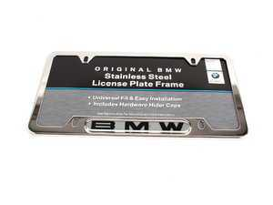 Genuine BMW License Plate Frame - Chrome/Silver Polished