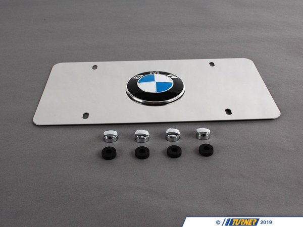 Genuine BMW Genuine BMW Vanity Plate - Polished Aluminum 82121470314