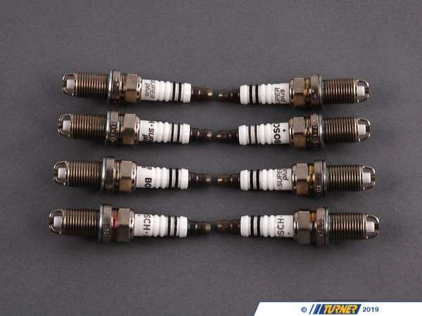 T#340547 - FR7LDCR+/8 - OEM Bosch Spark Plugs - Set Of Eight (#FR7LDCR+) - Bosch -