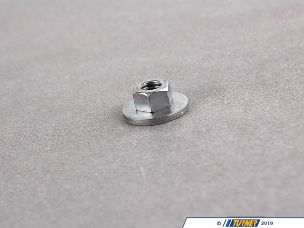 T#28795 - 07129904381 - Genuine BMW Hex Nut With Plate - 07129904381 - Genuine BMW -