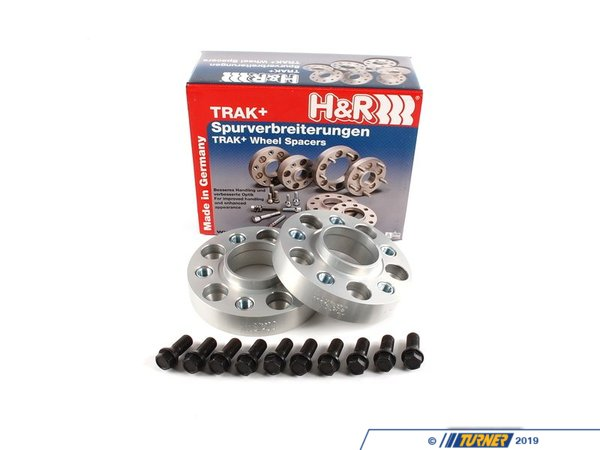 "T#2582 - 60757404 - E70 X5, E71 X6/X6 M H&R 30mm Bolt-On Wheel Spacers (Pair) - 30mm = 1.18""5/120 bolt pattern; 74.0 center boreDRA type = spacer fits in between the wheel and the hub. The spacer is bolted to the hub with special bolts (included). Your wheel bolts to the spacer.Hubcentric = Yes, this spacer comes with a new hubcentric lip for the wheel to rest onH&R's 30mm wheel spacers are Made in Germany and are TUV approved. H&R manufacturers their spacers from a super lightweight aluminum/magnesium alloy for excellent strength and also to save unsprung weight. The spacers are drilled for additional lightness and easy fitment. They are then hard anodized for durability. These are not low quality universal spacers - the bolt pattern, hub sizing, and other dimensions are designed to be used on BMW models only.This is a DRA-type spacer - the spacer is bolted to the hub with special bolts (included). You then bolt to your wheel to the spacer with your stock wheel bolts.Wheel Spacer FAQHow To Measure for SpacersWheel Spacer Encyclopedia - everything you wanted to knowThis item fits the following BMWs:Front or Rear 2007-2013  E70 BMW X5 3.0si X5 4.8i X5 xDrive30i X5 xDrive35d X5 xDrive35i X5 xDrive48iFront Only2007-2013  E70 BMW X5M2007-2014  E71 BMW X6 xDrive35i X6 xDrive50i X6M - H&R - BMW"