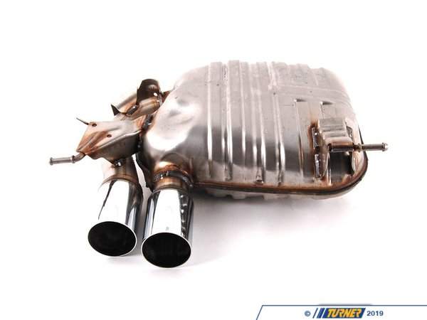 T#5189 - 18102208804 - Genuine BMW M Performance Muffler - E82 128i, E88 128i - 2008+ - The E82 128i BMW Performance exhaust system increases engine output by allowing exhaust gases to exit the vehicle more efficiently.   Engine performance is increased by up to 5 horsepower at 6000 RPM, but there's also another benefit.  As RPM escalates, so does the exhaust note, creating a racy but never intrusive sound. Replaces BMW part number 18100443577This item fits the following BMWs:2008+  E82 BMW 128i Coupe2008+  E88 BMW 128i Convertible - Genuine BMW -