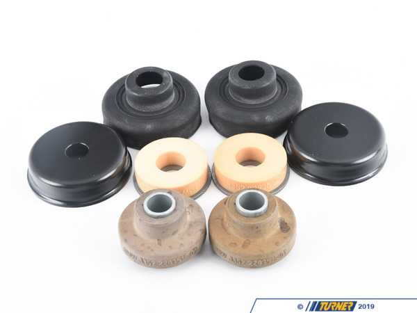 Genuine BMW Rear Shock Mounts (RSM) - Upper - OEM Rubber - E90 M3, E92 M3, E93 M3 (with EDC) (Pair) TMS11955