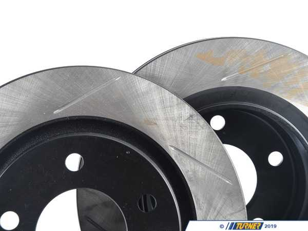StopTech Gas-Slotted Brake Rotors (Pair) - Rear - E46 325i/328i 34211165563GS