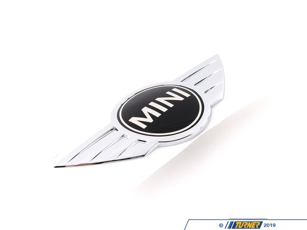 T#8861 - 51147026186 - Genuine MINI Emblem Rear Chrom - 51147026186 - Genuine Mini -