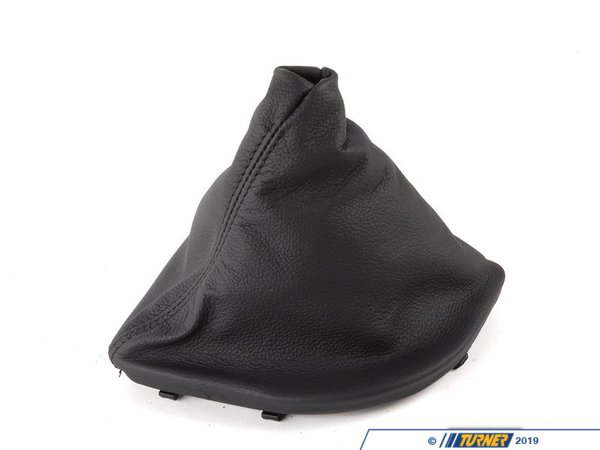 T#52903 - 25117552506 - Genuine BMW Leather Gear Lever Cover Schwarz - 25117552506 - Genuine BMW -