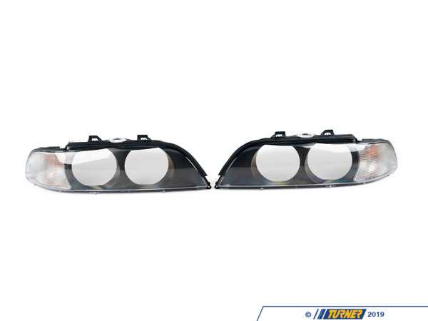 Hella E39 528i/540i Headlight Lenses with Euro Clear Turn Signals (pair) 9ES152179-801