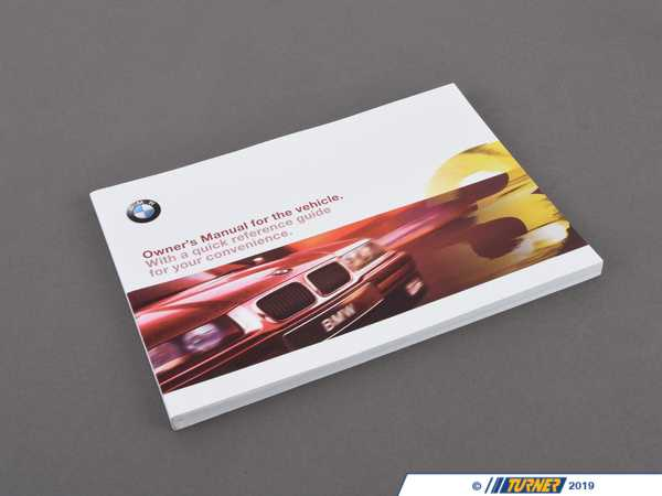 Genuine BMW Genuine BMW Owner's Handbook E36/2/4/C - 01419790377 - E36 01419790377