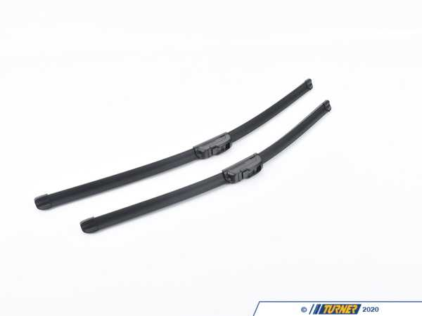 Genuine BMW Front Evo Flat Blade Wiper Blade Set 61612458347