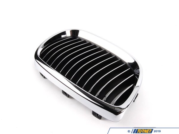 Genuine BMW Kidney Grill - Chrome - Right - E92 328i/xi 335i/xi, E9x M3  51137157278