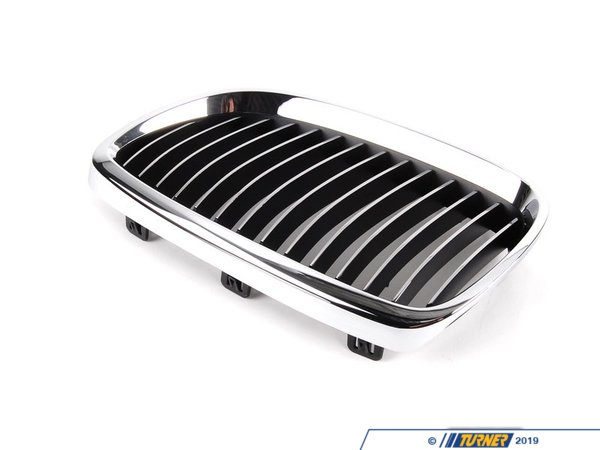 Genuine BMW Kidney Grill - Chrome - Left - E92 328i/xi 335i/xi, E9x M3 51137157277