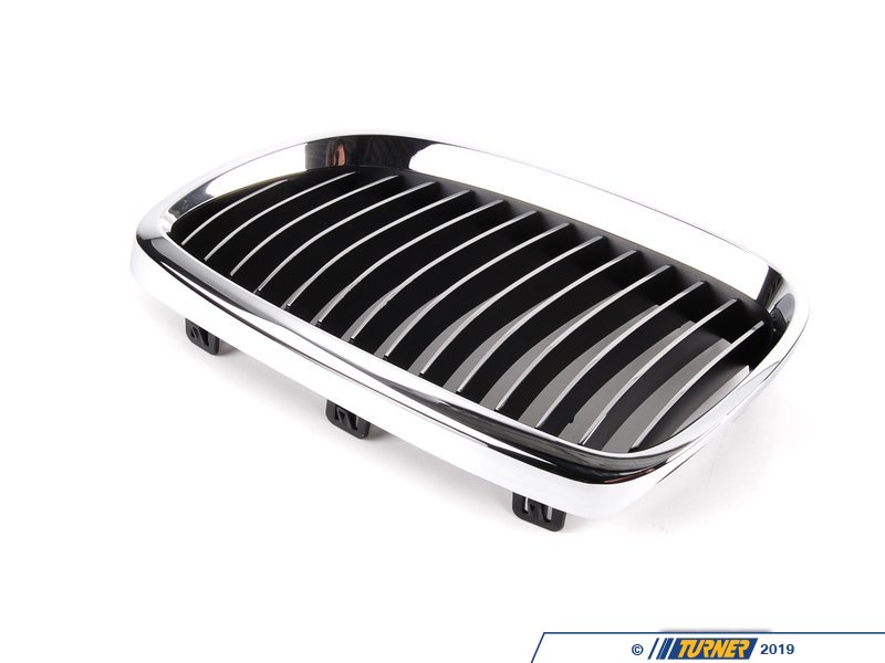 T#8697 - 51137157277 - Kidney Grill - Chrome - Left - E92 328i/xi 335i/xi, E9x M3 - Genuine BMW - BMW