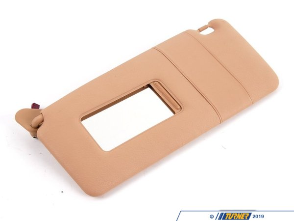T#12372 - 51168242557 - Genuine BMW Trim Lighted Make-up Sun Visor Le 51168242557 - Sandbeige - Genuine BMW -