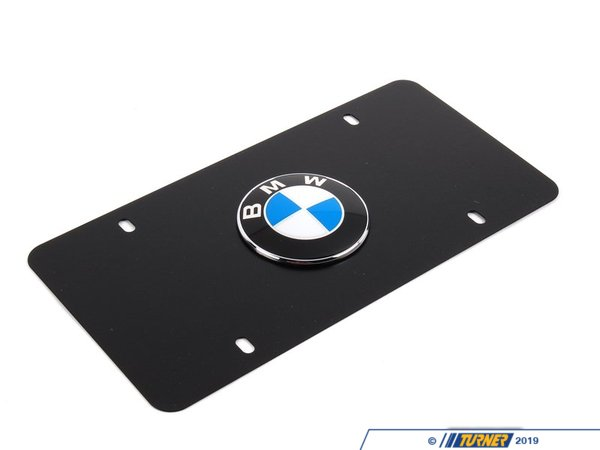 T#6332 - 82121470313 - Genuine BMW License Plate Frame 82121470313 - Black Marque - Genuine BMW -