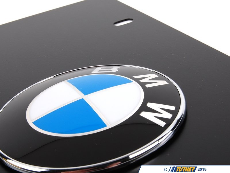 82121470313 Genuine Bmw Vanity Plate Black Turner