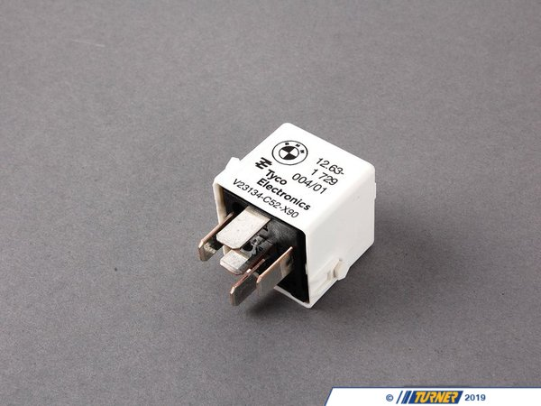 T#10642 - 61361729004 - Main / ECU Relay - White - E30 E36 E39 E38 X5 - Genuine BMW - BMW