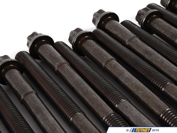 T#2074 - 11121726478 - Head Bolt Set - E30 325e 325i E28 528e E34 525i w M20 engine - Genuine BMW - BMW