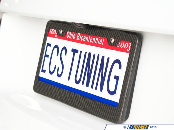 T#5649 - UN-0007 - Carbon Fiber License Plate Frame  - ECS - BMW