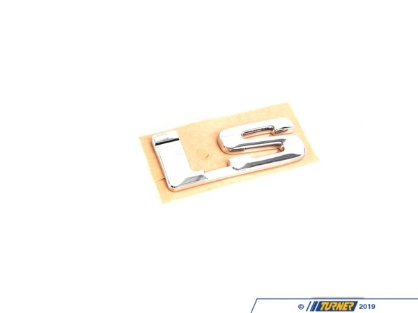 "T#8841 - 51141945054 - Genuine BMW Emblem Adhered Rear ""Is"" - 51141945054 - E30 - Genuine BMW -"