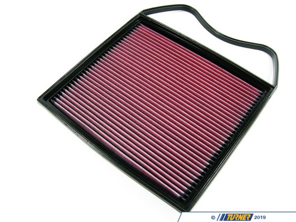 T#3868 - 33-2367 - K&N Performance Drop-In Air Filter - E90/E92 335i & 335xi, E82/E88 135i, E60 535i & 535xi - K&N's drop-in air intakefilter is constructed from cotton gauze material between aluminum mesh - this makes for a long lasting, high performance drop-in intake filter. These are very easy to remove and maintain. Turner Motorsport recommends this as one of the first maintenance/modifications you make to your vehicle after you purchase!K&N's drop in air filters allow increased airflow - dirt and particles stick to the oil on these filters, making them more effective than traditional paper filters in terms of protection. Additionally, K&N believes their filters are more efficient than paper filers - this means more oxygen getting into the engine, allowing vaporized fuel to burn more efficiently and increasing horsepower and fuel economy. The best of both worlds!Covered by the K&N Million Mile Limited WarrantyWashable and reusableEmissions legal in all 50 statesWill not void vehicle warrantyK&N drop-in air filter for 335i and 335xi (E90, E91, E92, E93 chassis), 135i (E82 E88 chassis) and 2007-2010 535i & 535xi (E60 chassis). This filter drops into the air box in minutes, just as the stock air filter element does.This K&N air filter fits the following BMWs::2008-2010 E82/E88 1 series 135i2011 E82 1 series 1M2007-2010 E90 3 series sedan - 335i and 335xi sedan (N54)2007-2010 E92 3 series coupe - 335 & 335xi coupe2010+ E92 3 series coupe - 335is2007-2010 E93 3 series convertible - 335i convertibles2007-2010 E60 5 series 535i & 535xi turbo sedan - K&N - BMW