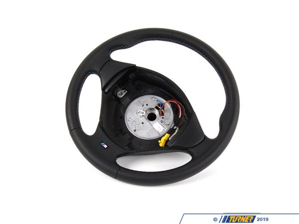 T#7867 - 32342228230 - Black Leather M Sport 3 Spoke Steering Wheel - E36 3/98+ - Genuine BMW -