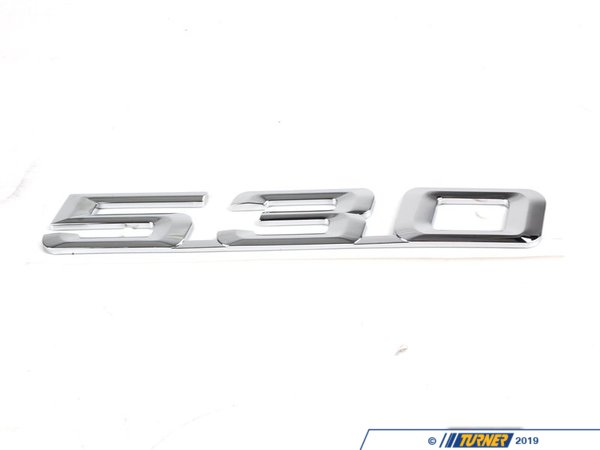 "T#8880 - 51148148829 - Genuine BMW Emblem Adhered ""530"" - 51148148829 - E34,E39 - Genuine BMW -"