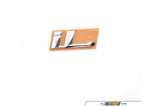 "T#8877 - 51148136273 - Genuine BMW Emblem Adhered Rear ""Il"" - 51148136273 - E38 - Genuine BMW -"