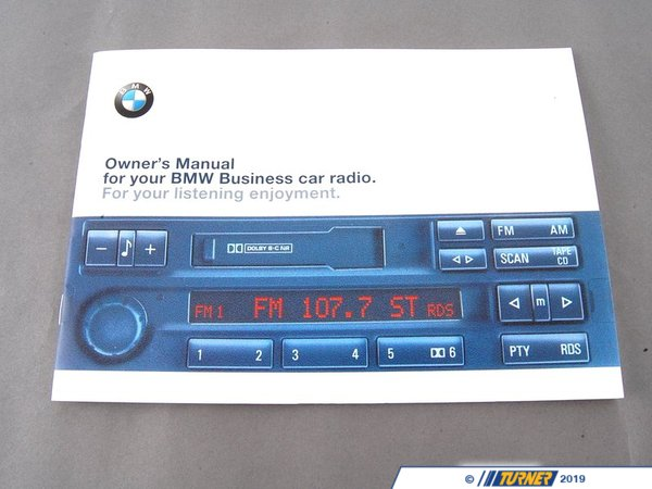 "T#26813 - 01419791557 - Genuine BMW Operating Instructions, Radio ""En Us"" - 01419791557 - E36 - Genuine BMW Operating Instructions, Radio ""En Us""This item fits the following BMW Chassis:E36 M3,E36 - Genuine BMW -"