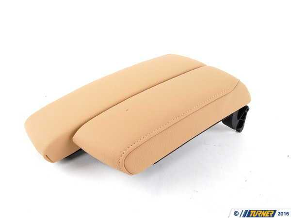 T#83783 - 51167147221 - Genuine BMW Armrest In Leather, Front Center Beige - 51167147221 - E90 - Genuine BMW -