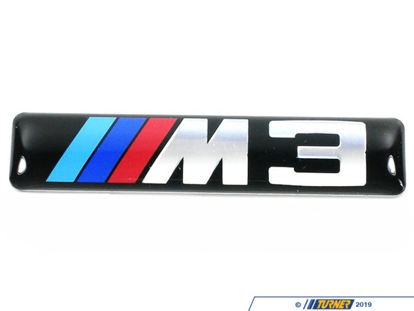 T#16064 - 51137893023 - Side Grille Emblem with M3 logo - E46 M3 - This is the front fender side grill emblem for E46 M3.  This item fits the following BMWs:2001-2006  E46 BMW M3, M3 Convertible - Genuine BMW - BMW