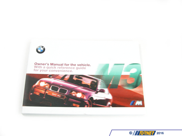 Genuine BMW Genuine BMW 1998 M3 Owners Manual - E36 M3 S52 3.2L 01419790397