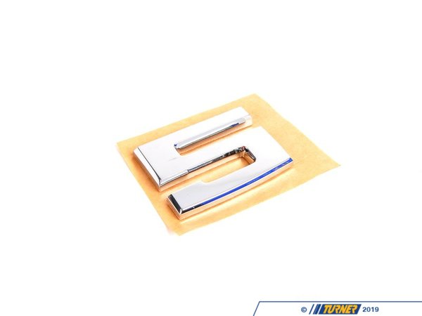 "T#8845 - 51141946170 - Genuine BMW Emblem Adhered Rear ""5"" - 51141946170 - E34,E34 M5 - Genuine BMW -"