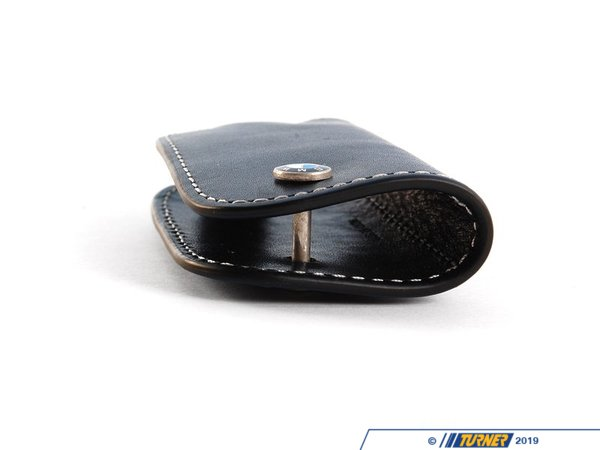 T#163873 - 80232209855 - Genuine BMW Leather Key Fob - Black - Genuine BMW - BMW
