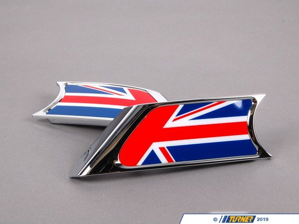 T#23425 - 51130432570 - Genuine MINI Trim Cover Set With Pad Union Jack - 51130432570 - Genuine MINI -