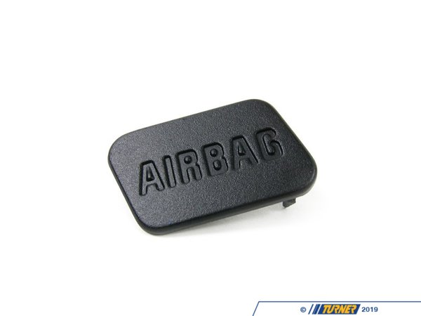T#9695 - 51418413215 - SRS Airbag Door Emblem - Black - Left - E36, Z3 - Genuine BMW - BMW