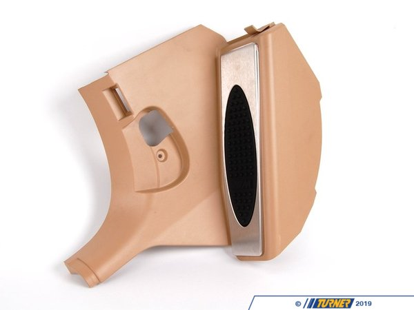 T#16123 - 51437894624 - Genuine BMW Trim Lateral Trim Panel, M Foot R 51437894624 - Genuine BMW Lateral Trim Panel, M Foot Rest,Frnt Lft - M HellbeigeThis item fits the following BMW Chassis:E46 M3,E46 - Genuine BMW -