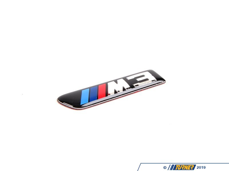 51138042227 Side Grill Emblem Left E9x M3 Turner