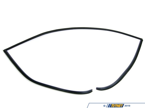 T#21063 - 51317027916 - Rear Windshield Trim Cover - E60 5 series - This Genuine BMW rear window trim is the black plastic trim that covers the top and sided of the e60 5 series rear window.   This molding tends to discolor or fall off the car.   This item fits the following BMWs: 2004-2010  E60 BMW 525i 525xi 530i 530xi 528i 528xi 528i xDrive 535i 535xi 535i xDrive 545i 550i M5 - Sedan only - Genuine BMW - BMW