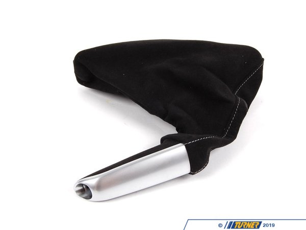 T#5103 - 34402153752 - Parking Brake Handle/Boot - Alcantara/Aluminum - E46 3 series - Genuine BMW - BMW