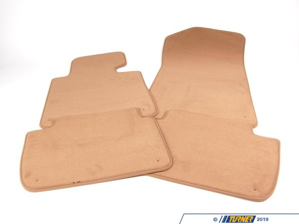 T#12800 - 51478227522 - Genuine BMW Set Of Floor Mats Velours Beige - 51478227522 - E46,E46 M3 - Genuine BMW -