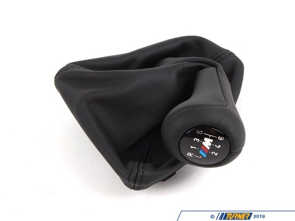 T#25165 - 25112283040 - Genuine BMW Leather Shift Knob With Boot - 25112283040 - Schwarz/M - Genuine BMW -