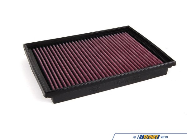 T#4173 - 33-2231 - K&N Performance Drop-In Air Filter - E46 323/325/328/330 M3 - K&N's drop-in air intakefilter is constructed from cotton gauze material between aluminum mesh - this makes for a long lasting, high performance drop-in intake filter. These are very easy to remove and maintain. Turner Motorsport recommends this as one of the first maintenance/modifications you make to your vehicle after you purchase!K&N's drop in air filters allow increased airflow - dirt and particles stick to the oil on these filters, making them more effective than traditional paper filters in terms of protection. Additionally, K&N believes their filters are more efficient than paper filers - this means more oxygen getting into the engine, allowing vaporized fuel to burn more efficiently and increasing horsepower and fuel economy. The best of both worlds!Covered by the K&N Million Mile Limited WarrantyWashable and reusableEmissions legal in all 50 statesWill not void vehicle warranty - K&N - BMW