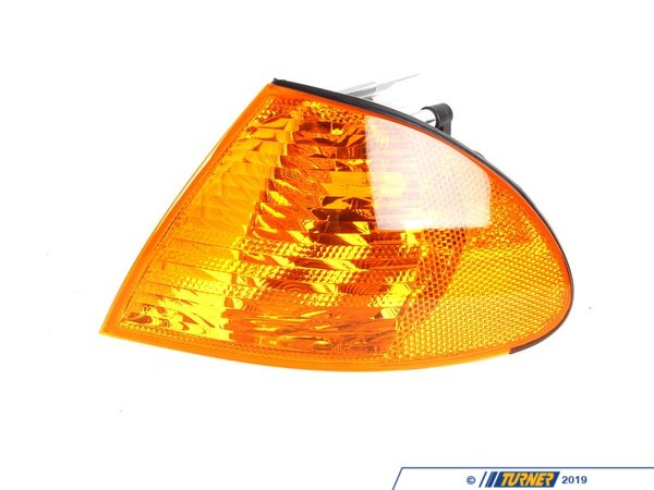 Genuine BMW Front Left Turn Signal - Amber - E46 323i 325i 328i 330i Sedan  63136902765