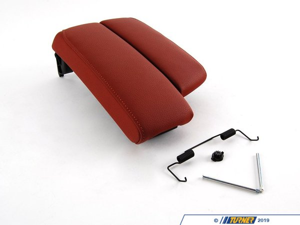 T#87340 - 51169187224 - Genuine BMW Center Arm Rest, Leather - 51169187224 - Rotbraun - Genuine BMW -
