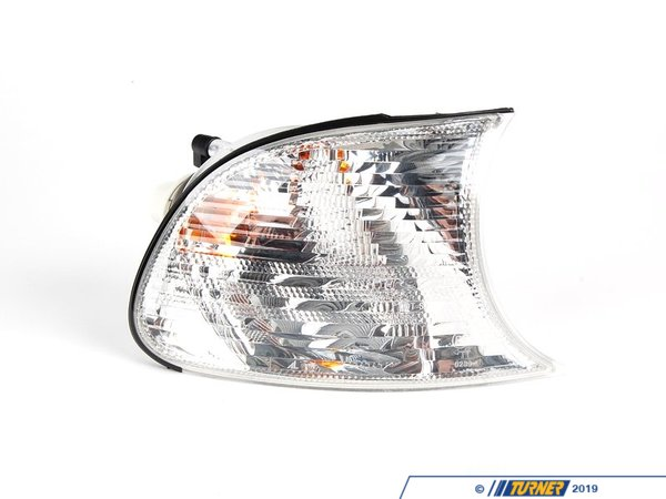 T#12835 - 63137165858 - Clear Turn Signal - Right - E46 325ci, 330ci, M3 - This Genuine BMW clear turn signal assembly is for the right (passenger side) of the an E46 coupe and convertible.   This white light comes with the lens assembly, bulb and bulb socket.This item fits the following BMWs:2002-2003  E46 BMW 325ci 330ci 1992-2006  E46 BMW M3 - Genuine BMW - BMW