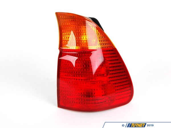 T#4783 - 63217158392 - Tail Light - Right - E53 X5 3.0i, 4.4i, 4.6is, 2000-10/2003 - This is the right (passengers side ) tail light assembly for E53 X5 models. It has the standard amber turn signal color.  This item fits the following BMWs:2000-10/2003  E53 BMW X5 3.0i X5 4.4i X5 4.6is - Genuine BMW - BMW