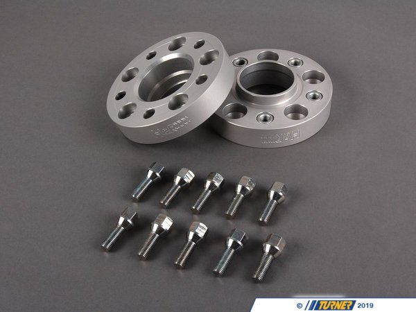 "T#3535 - 6075740 - E39 30mm H&R Bolt-On Wheel Spacers (Pair) - 30mm = 1.18""5/120 bolt pattern; 74.0 center boreDRA type = spacer fits in between the wheel and the hub. The spacer is bolted to the hub with special bolts (included). Your wheel bolts to the spacer.Hubcentric = Yes, this spacer comes with a new hubcentric lip for the wheel to rest onH&R's 30mm wheel spacers are Made in Germany and are TUV approved. H&R manufacturers their spacers from a super lightweight aluminum/magnesium alloy for excellent strength and also to save unsprung weight. The spacers are drilled for additional lightness and easy fitment. They are then hard anodized for durability. These are not low quality universal spacers - the bolt pattern, hub sizing, and other dimensions are designed to be used on BMW models only.This is a DRA-type spacer - the spacer is bolted to the hub with special bolts (included). You then bolt to your wheel to the spacer with your stock wheel bolts.Wheel Spacer FAQHow To Measure for SpacersWheel Spacer Encyclopedia - everything you wanted to knowThis item fits the following BMWs:1997-2003  E39 BMW 525i 528i 530i 540i M5 - H&R - BMW"