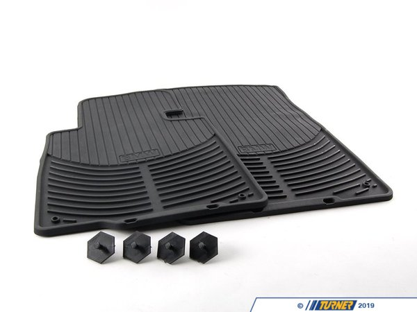 T#22114 - 82550151194 - Genuine BMW Rubber Floor Mats E46 Cabrio Frt - 82550151194 - E46 - Genuine BMW -